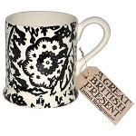 Black Wallpaper 1/2 Pint Mug