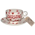 Pink Hearts Darling Breakfast Cup/Saucer