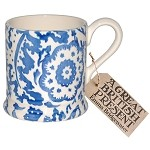 Blue Wallpaper 1/2 Pint Mug