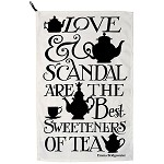 Black Toast Love & Scandal Tea Towel