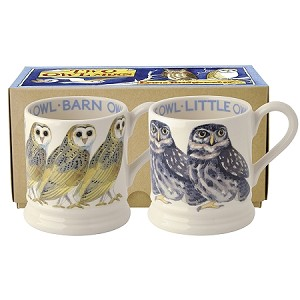 Little Owl and Barn Owl  Box set/2 Mugs