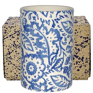 Blue Wallpaper Medium Vase Boxed