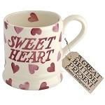 Pink Hearts Sweetheart 1/2 Pint Mug