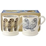 Snowy Owl and Tawny Owl Set/2 1/2 Pint Mugs Boxed