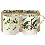 Winter Flowers Set/2 1/2 Pint Mugs Boxed