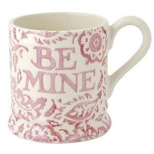 Pink Wallpaper Be Mine 1/2 Pint Mug