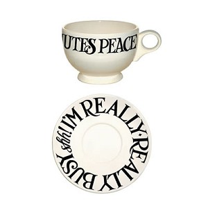 Black Toast & Marmalade Breakfast Cup and Saucer