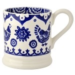 Blue Hen and Border 1/2 Pint Mug