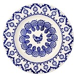 "Blue Hen & Border 10 1/2"" Dinner Plate"