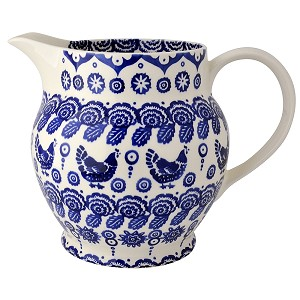 Blue Hen  and  Border 6 Pint Jug