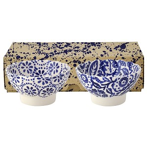 Blue Skies Fluted Bowls Set/2