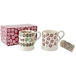 Christmas Joy Set of 2 1/2 Pint Mugs