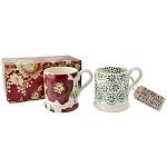 Christmas Rose Set of 2 1/2 Pint Mugs