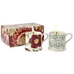 Christmas Rose Set of 2 Filled Mini Mugs