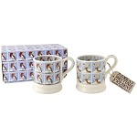 Christmas Stamps Set of 2 1/2 Pint Mugs