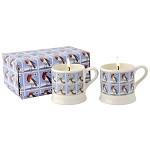 Christmas Stamps Set of 2 Filled Mini Mugs