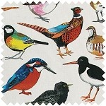 British Bird Fabric Yard