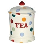 Polka Dot Tea Storage Jar