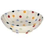 Polka Dot Fluted Bowl