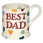 Polka Hearts Best Dad ½ Pint Mug