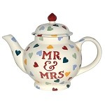 Polka Hearts Mr & Mrs Four Cup Teapot