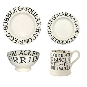 Black Toast Place Setting