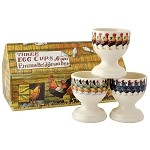 Set of 3 Hen Egg Cups Boxed
