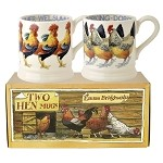 Hens Set/2 1/2 Pint Mugs Retired