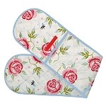 Rose and Bee Double Oven Gloves