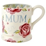 "Rose and Bee 1/2 Pint Mug ""MUM"""