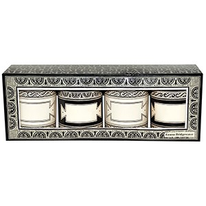Black Toast Set/4 Spice Tins