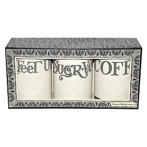 Black Toast Hatch set/3 Storage Tins
