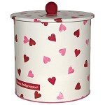 Pink Hearts Biscuit Barrel