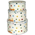 Polka Dot Round Cake Tins Set/3