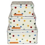 Polka Dot Square Cake Tins Set/3