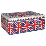 Union Jack Deep Rectangular Tin