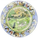 Year in the Country Melamine Plate