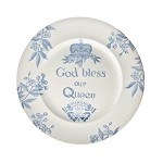 Blue Diamond Jubilee Plate 10''