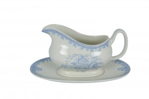 Asiatic Pheasant Gravy Boat and Stand