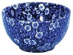 Blue Calico Large Sugar Bowl