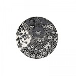 "Engravers Collection Black Accent 7"" Plate"