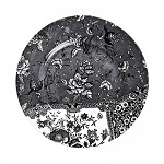 Engravers Collection Black Accent Dinner Plate