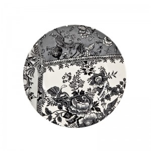 Engravers Collection Black Accent Lunch Plate