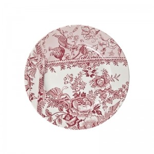 Engravers Collection Pink Accent Lunch Plate  Retired