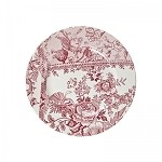 Engravers Collection Pink Accent Lunch Plate