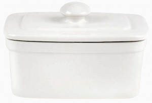 Natural White Butter Dish