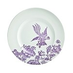 Plum Asiatic Pheasant Dessert Accent Plate Retired