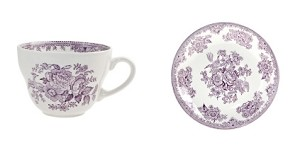 Plum Asiatic Pheasant Breakfast Cup & Saucer