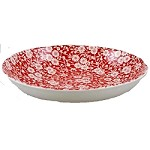 Red Calico Pasta Bowl