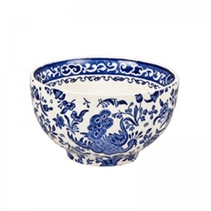 Blue Regal Peacock Rice Bowl